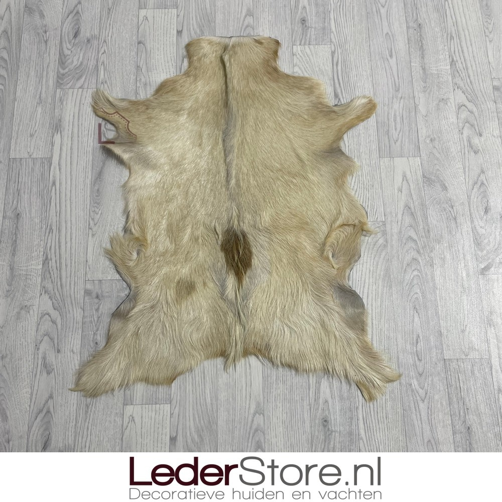 Geitenhuid beige bruin 85x65cm