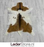 Geitenhuid bruin wit zwart 90x70cm