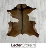 Geitenhuid bruin wit zwart 85x75cm