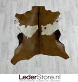 Geitenhuid bruin wit zwart 90x80cm