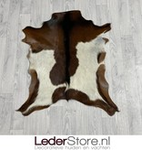 Geitenhuid bruin wit zwart 90x75cm