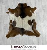 Geitenhuid bruin wit zwart 85x80cm