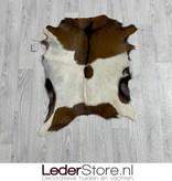 Geitenhuid bruin wit zwart 75x80cm
