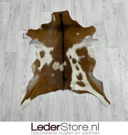 Goatskin rug brown black white 80x70cm