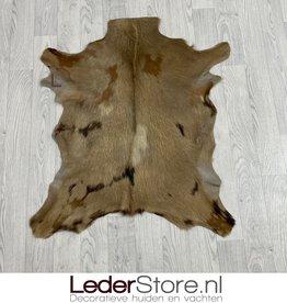 Goatskin rug brown 90x75cm