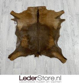 Goatskin rug brown 80x75cm