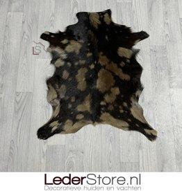 Goatskin rug brown 80x65cm