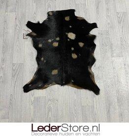 Geitenhuid bruin zwart 80x65cm