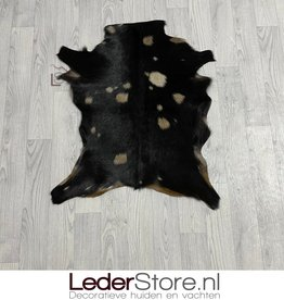 Goatskin rug brown black 80x65cm