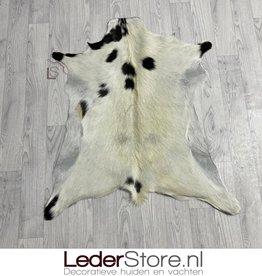 Goatskin rug black creme 90x80cm