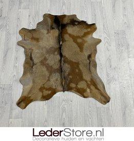 Goatskin rug brown black 80x75cm