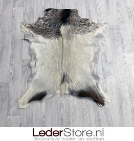 Goatskin rug brown black creme 90x70cm