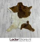 Geitenhuid bruin creme 95x75cm