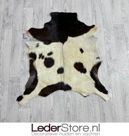 Goatskin rug brown creme 85x80cm