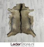 Geitenhuid bruin zwart wit 90x75cm