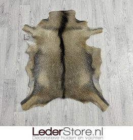 Goatskin rug brown black white 90x75cm