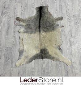 Goatskin rug gray creme 85x70cm