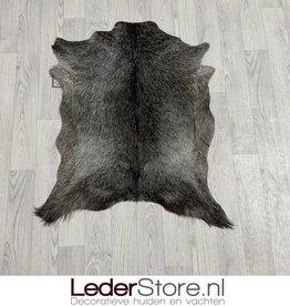 Goatskin rug grey black white 90x70cm