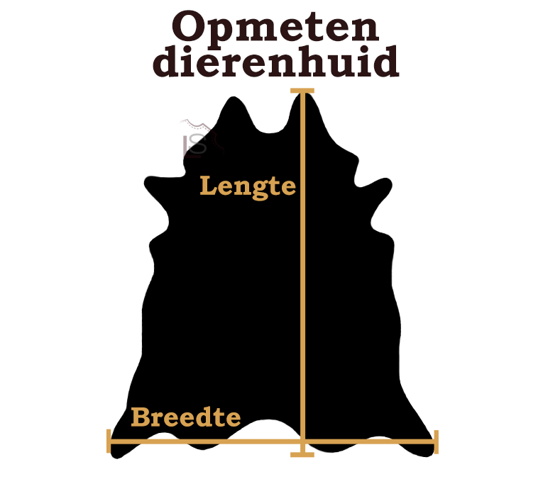 Geitenhuid bruin zwart creme 90x70cm