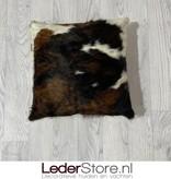 Koeienhuid kussen bruin wit zwart normandier 40x40cm