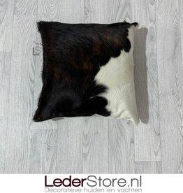 Cowhide pillow brown white black normandier 40x40cm