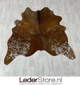 Koeienhuid bruin wit 145x150cm XS