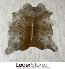Cowhide rug brown white 165x140cm XS
