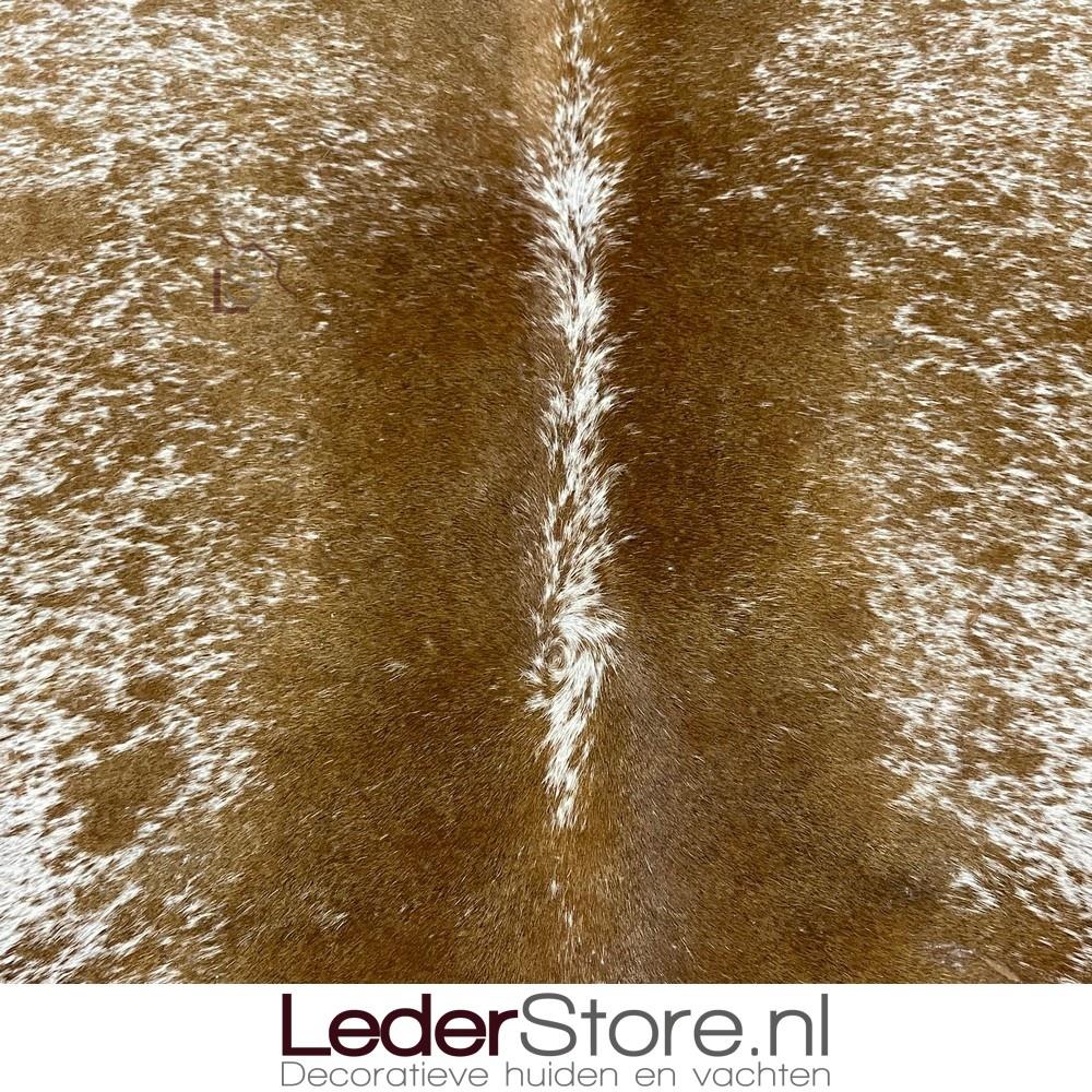 Koeienhuid bruin wit 165x140cm