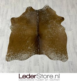 Cowhide rug brown white 155x135cm XS