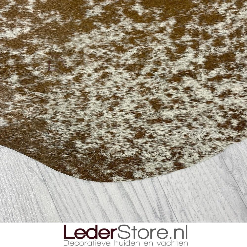Koeienhuid bruin wit 155x135cm