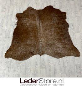 Cowhide rug brown white 145x60cm XS