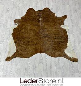 Koeienhuid bruin zwart wit 160x170cm XS
