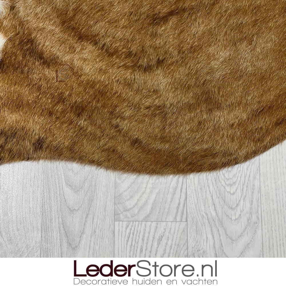 Koeienhuid bruin zwart wit 160x170cm