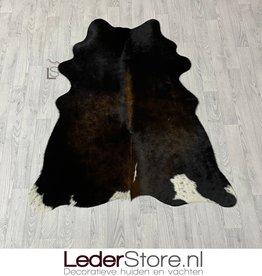 Cowhide rug brown white black 160x130cm XS