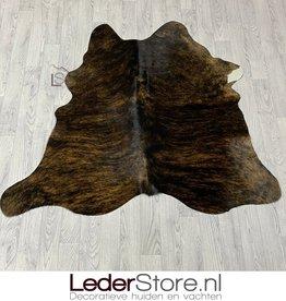 Cowhide rug brown white black 140x145cm XS