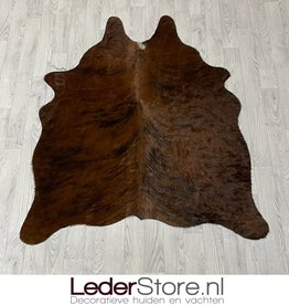 Cowhide rug brown white black 150x125cm XS