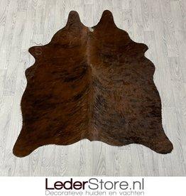Koeienhuid bruin zwart wit 150x125cm XS