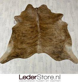 Cowhide rug brown black 175x180cm XS