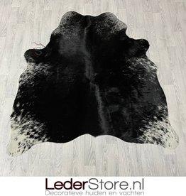 Cowhide rug black white 170x155cm XS