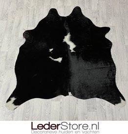 Cowhide rug black white 145x135cm XS