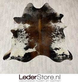 Cowhide rug brown black white 205x175cm S