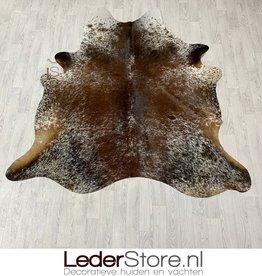 Cowhide rug brown white 200x195cm S