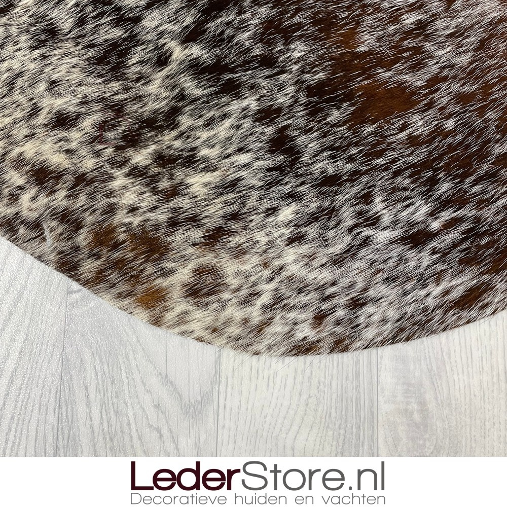 Koeienhuid bruin wit 200x195cm