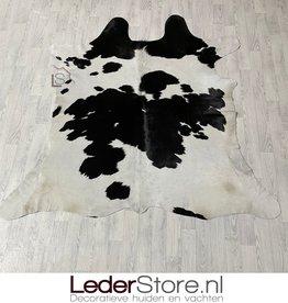 Cowhide rug black white 195x200cm S