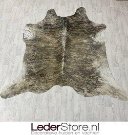 Cowhide rug brown grey black white 200x210cm S brindle