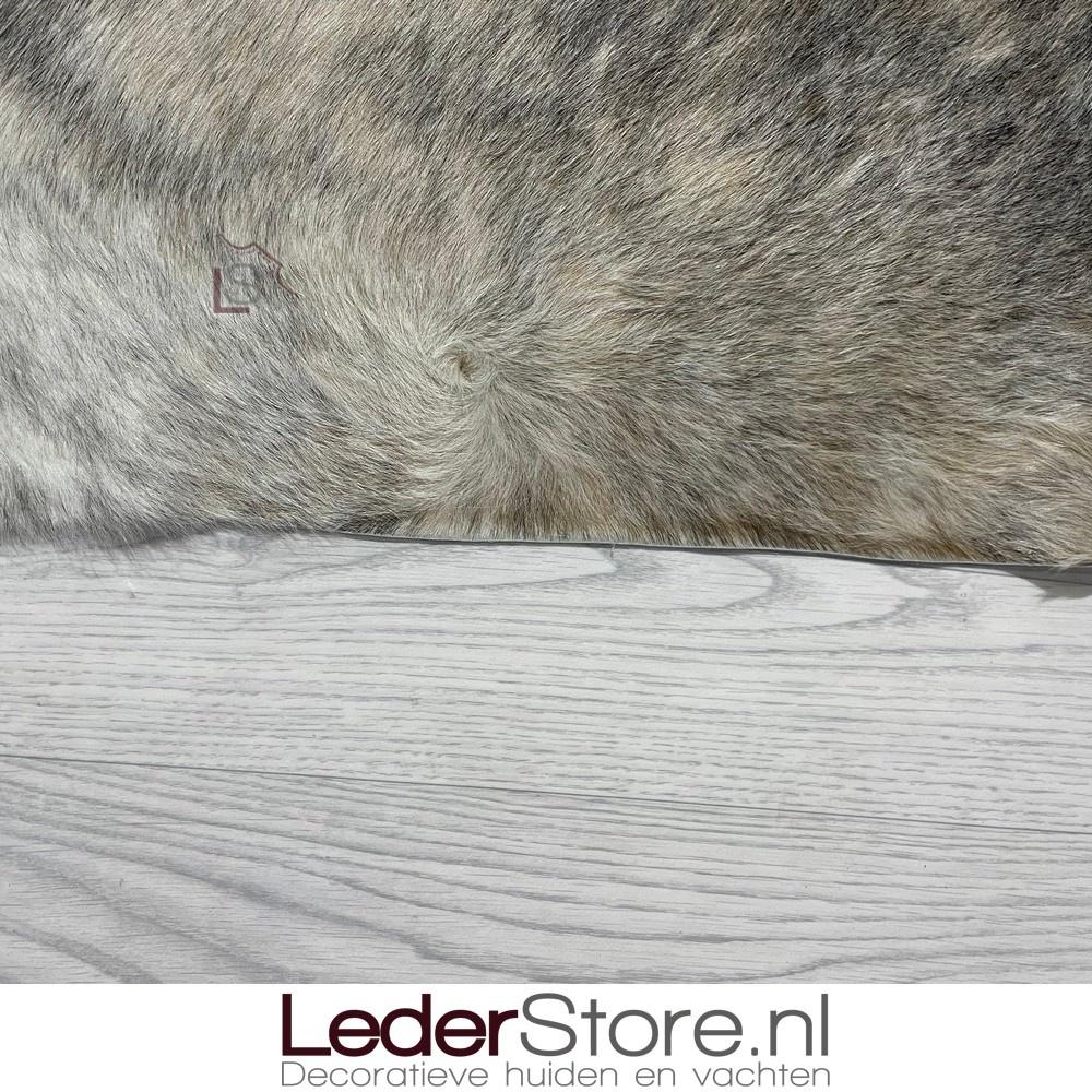 Koeienhuid bruin grijs zwart wit 200x210cm brindle
