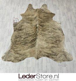 Cowhide rug beige black 215x195cm S brindle