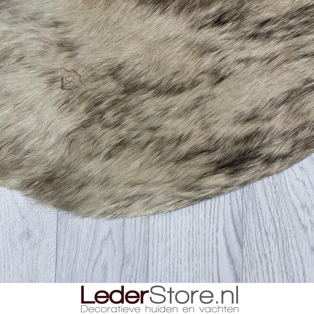 Koeienhuid beige zwart 215x195cm brindle