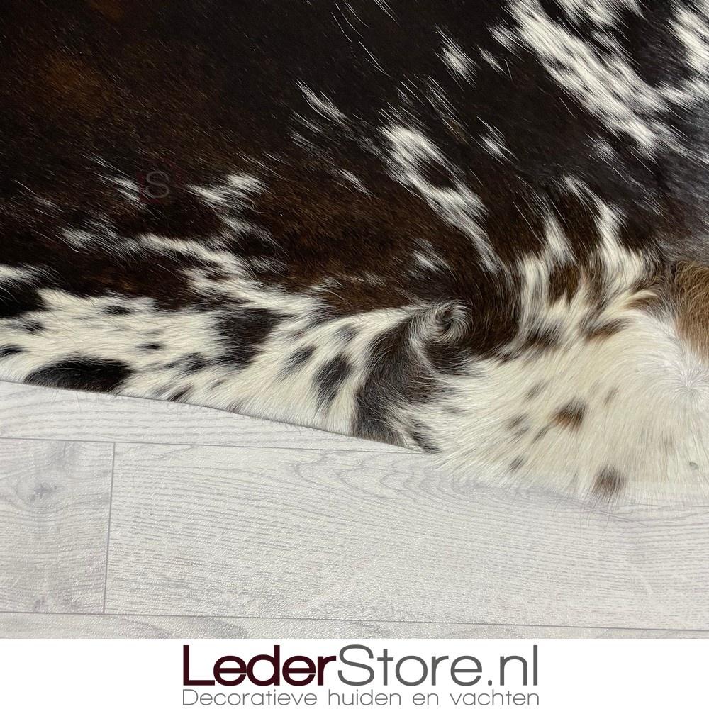 Koeienhuid bruin zwart wit 190x185cm