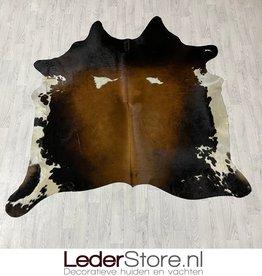 Cowhide rug brown black white 210x205cm M/L